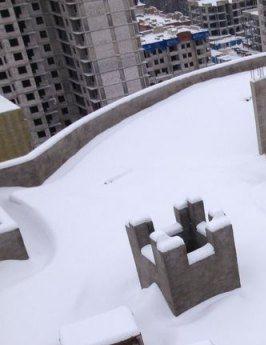 Чистка снега с крыш в кирове